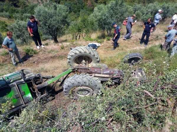 Osmaneli ilçesinde devrilen traktörün altında kalan kişi öldü