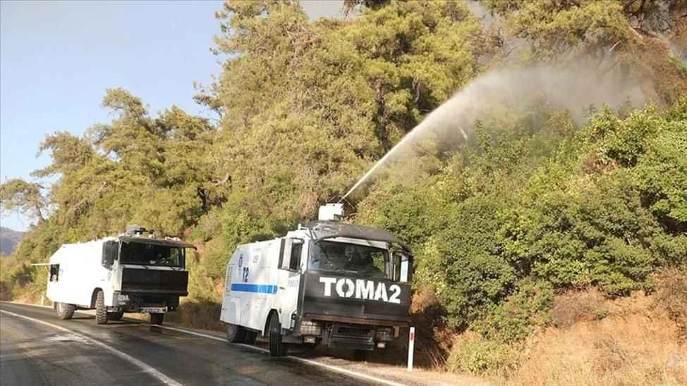Yangınla mücadele için Sakarya'dan TOMA gönderildi!