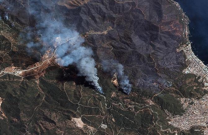 Yangın tespiti uydu üzerinden yapıldı! 547 bin dekar alan kül oldu
