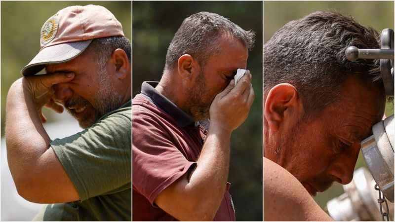 Alevlerin ortasında kalan orman işçisinin telsiz anonsu ağlattı