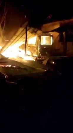 Garajda çıkan yangında araçları ve 30 bin lirası kül oldu