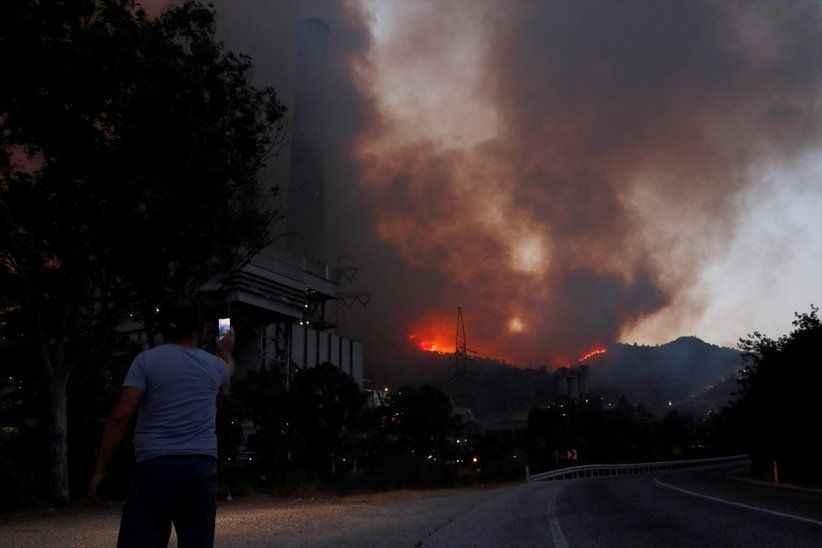 Termik santrale sıçrayan yangın kontrol altına alındı!