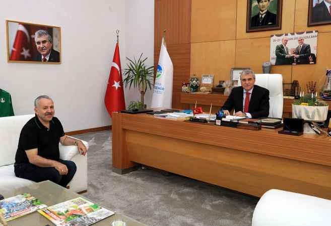 Türkiye'nin Lahey Büyükelçisi Dişli'den Başkan Yüce'ye ziyaret