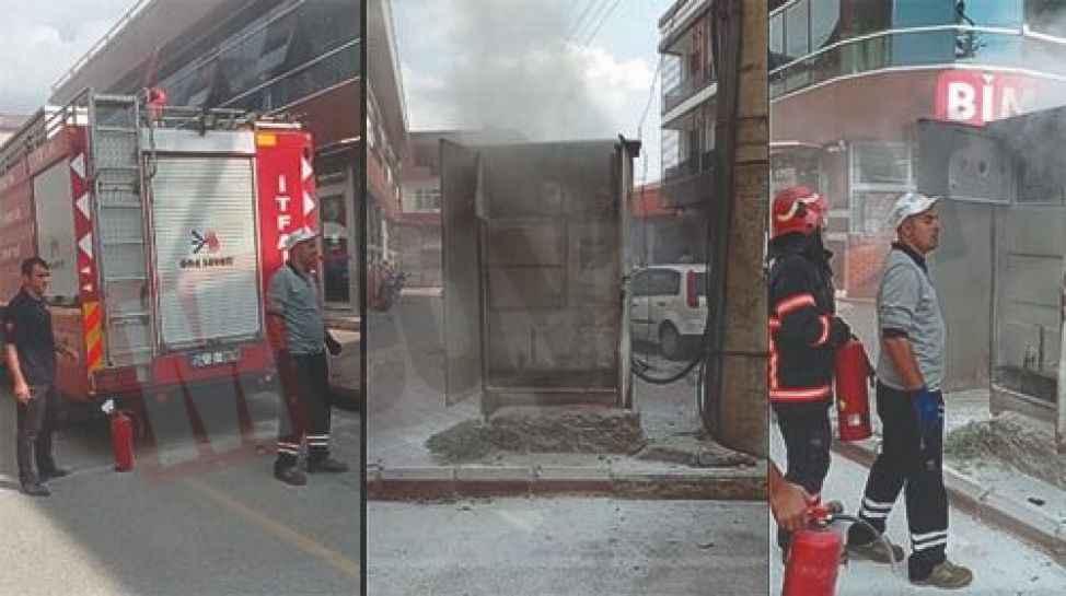 Pazarköy Caddesinde Elektrik trafosu alev aldı!