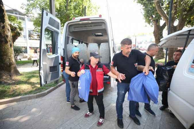 Manavgat yangınında görev alan Sakaryalı gönüllü ekip Köyceğiz'deki yangına koştu