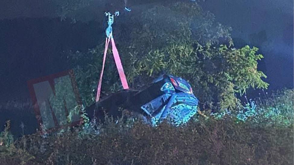 6 kişinin bulunduğu araç şarampole uçtu!