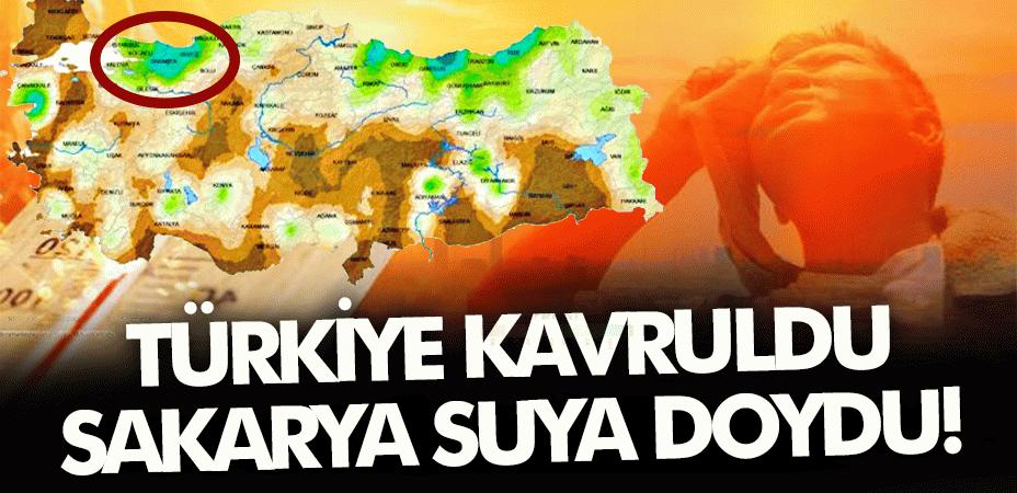 Türkiye kavruldu, Sakarya suya doydu!