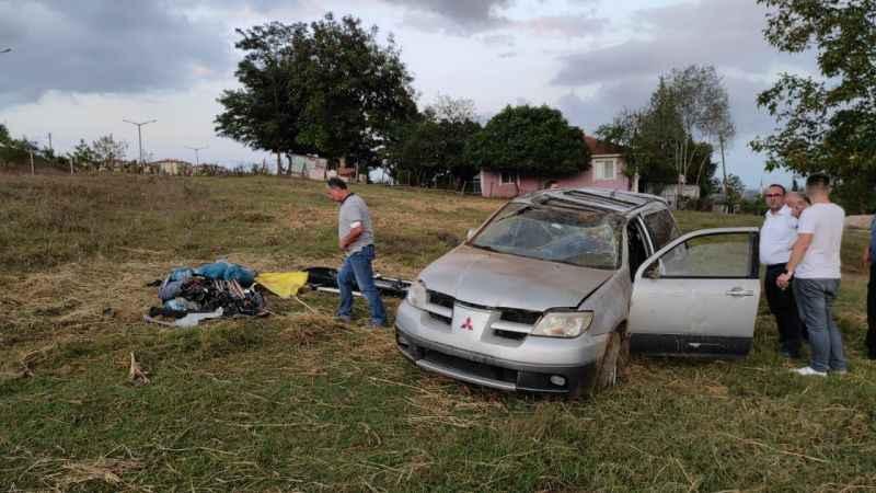 Korucuk'ta otomobil takla attı: 5 yaralı