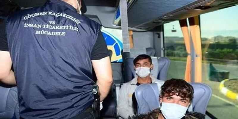 Kocaeli'de  21 düzensiz göçmen yakalandı