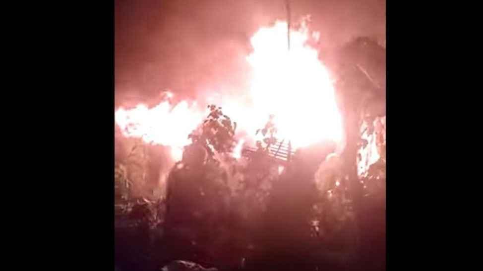 Keremali Yaylasında korkutan yangın