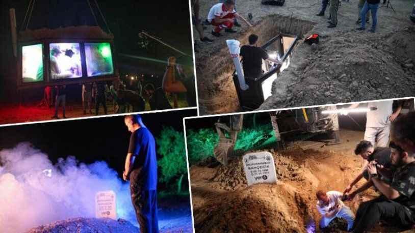 YouTuber, tıklanma uğruna kefen giyip toprak altına girdi