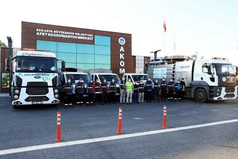 Başkan Ekrem Yüce talimatı verdi;afet bölgesine destek ekipler gönderildi