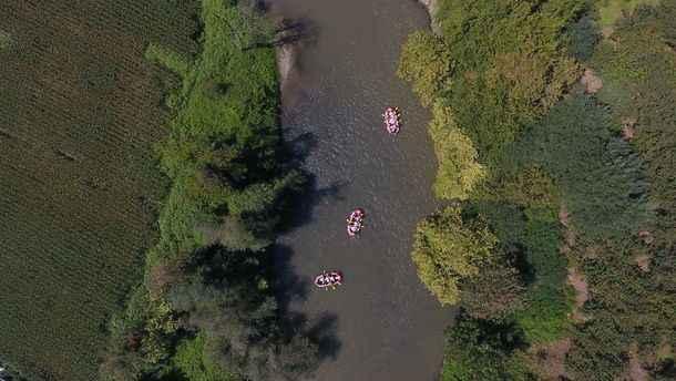 Rafting tutkunları Melen Çayı'nda adrenalin depoluyor