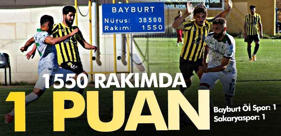 Bin 550 metre rakımda 1 puan! Bayburt Öİ Spor 1-1 Sakaryaspor