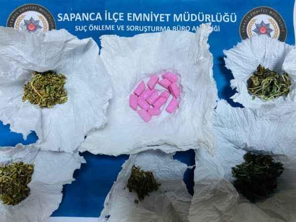 Sapanca'da uyuşturucu operasyonunda 1 şüpheli yakalandı