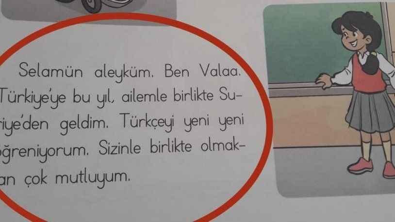 1. Sınıf Hayat Bilgisi kitabındaki Suriyeli kız gündem oldu: Selamün aleyküm...