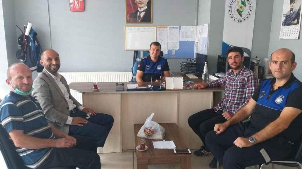 Saadet Partililerden Zabıta Müdürlüğüne ziyaret