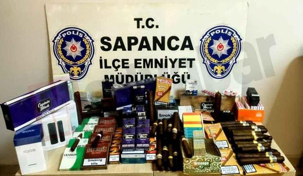 Sapanca polisinden bandrolsüz sigara operasyonu