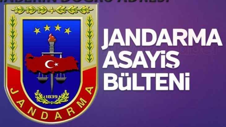 Jandarma bölgesinde bu olaylar oldu! Sakarya için asayiş raporu