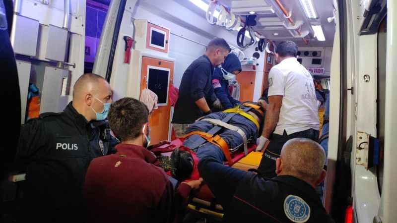 Bursa'da yüksekten düşen kişi ağır yaralandı