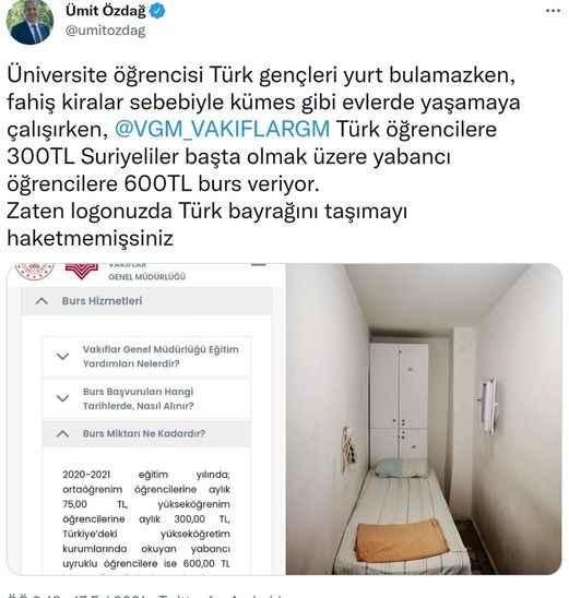 VGM, Türk öğrencilere 300, yabancı öğrencilere 600 TL burs veriyor!