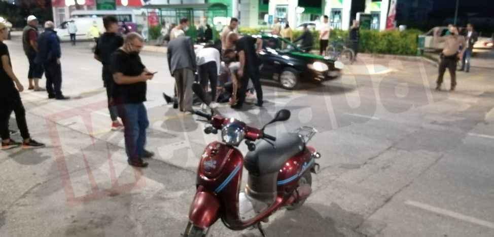 Ada Caddesi'nde motosiklet kazası: 1 yaralı