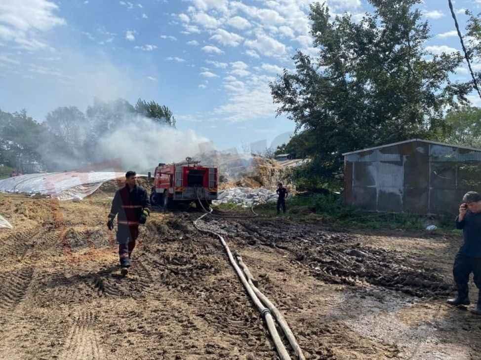 133 tonluk saman deposunda yangın çıktı!