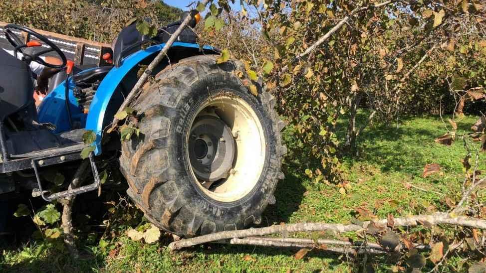 Eski Muhtar fındıklıkta takla atan traktörün altında kalacaktı!