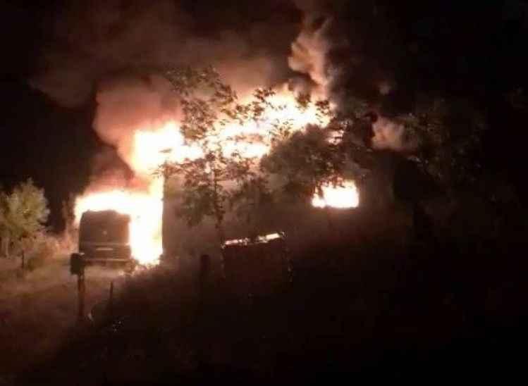 GEYVE'DE FACİA (6) Yangının görüntüleri ortaya çıktı
