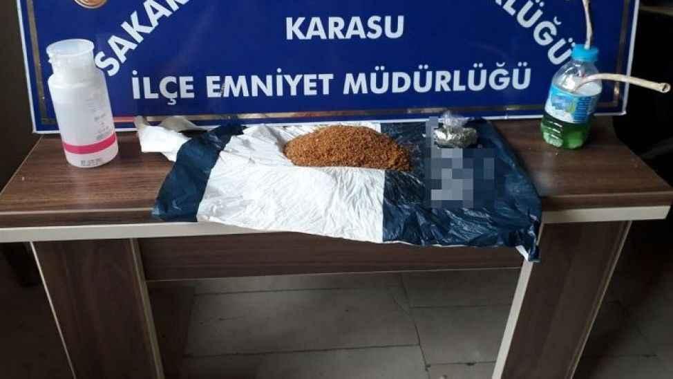 Karasu'da 3 ayrı adrese uyuşturucu baskını