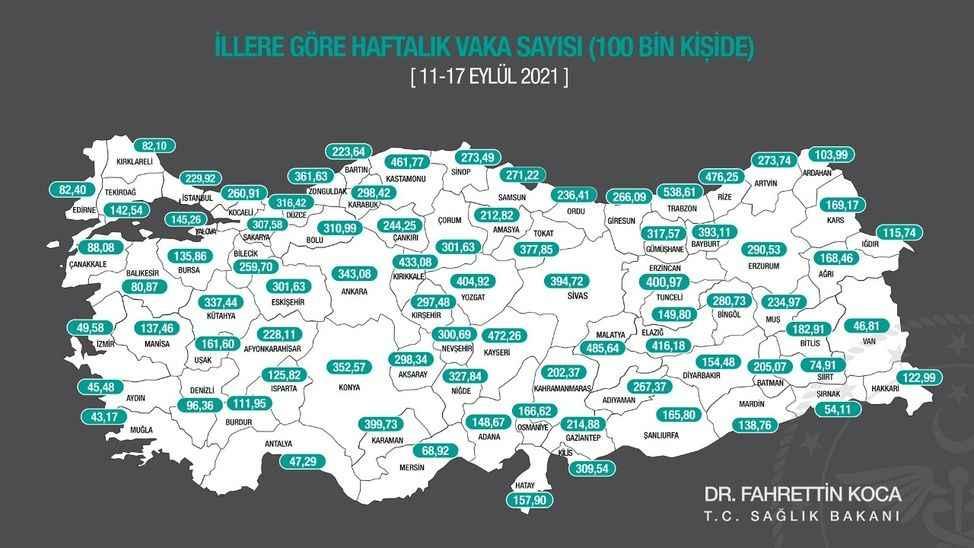Sakarya'da vaka oranı yüzde 300'ü aştı