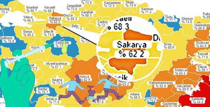 Marmara'da tek turuncu iliz! Sakarya'da aşı karşıtı mı çok?