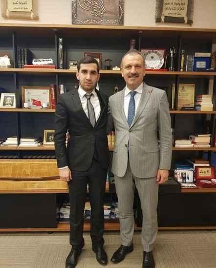 Berkay Çelik'ten Cumhurbaşkanı Başdanışmanı Saral'a ziyaret