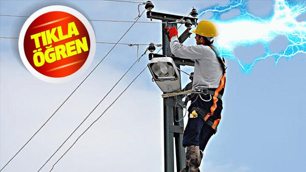 7 ilçede onlarca mahalle... Bir çoğunda 8 saat elektrik olmayacak!