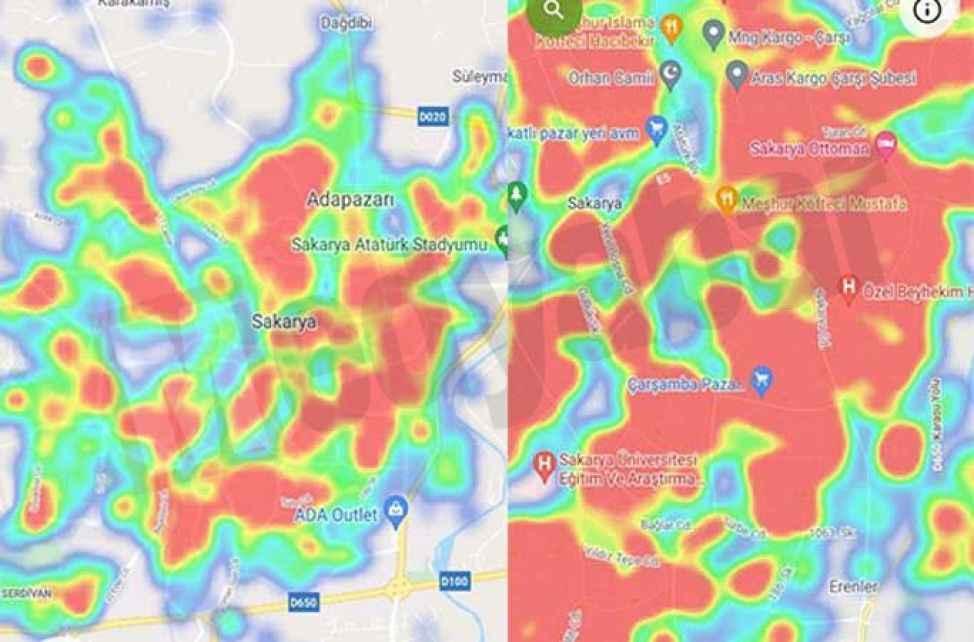 Vakalar patladı, harita kırmızı ile kaplanıyor! İşte riskli bölgeler