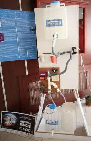 Lise öğrencisi banyoda su israfını önleyen sistem geliştirdi