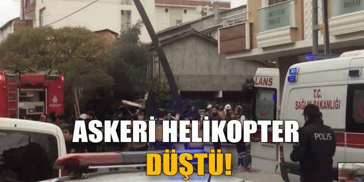 Askeri helikopter düştü!