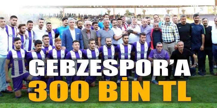 Serap Çakır'dan Gebzespor'a 300 Bin TL