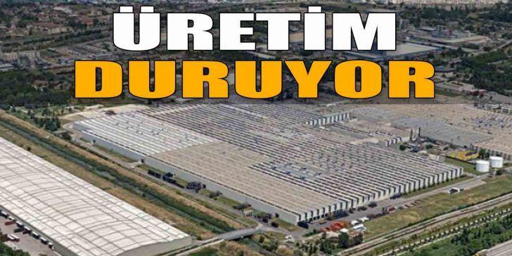 Dev Lastik Fabrikasında Üretim Duruyor
