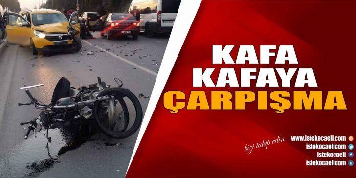 Otomobil ve Motosiklet Kaza Yaptı; 2 Kişi Ağır Yaralı
