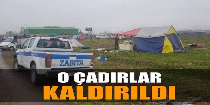 Atık Kağıt Toplayanların Çadırları Kaldırıldı
