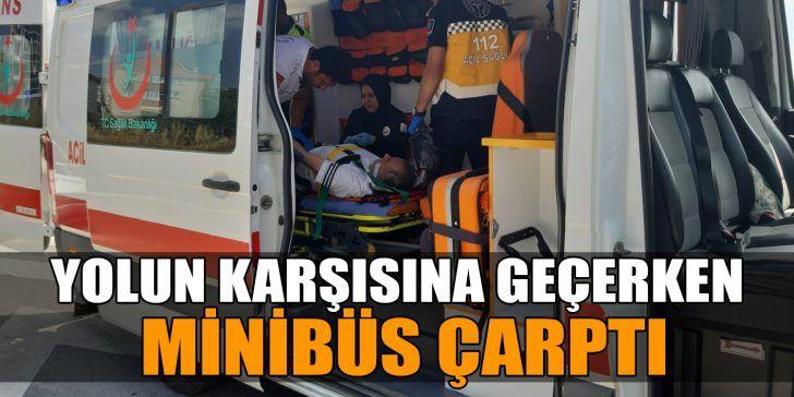 Gebze'de Minibüs Yayaya Çarptı