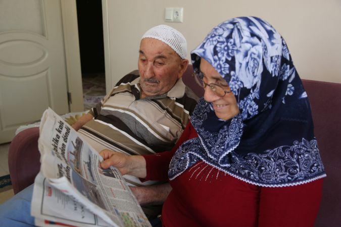 90 yaşında okuma yazma belgesi aldı