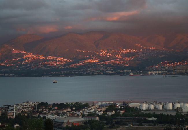 Kocaeli'de gün batımı