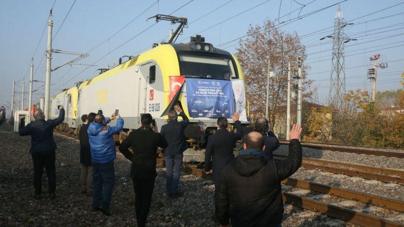 Türkiye'den Çin'e ilk blok ihracat treni Kocaeli'ye ulaştı