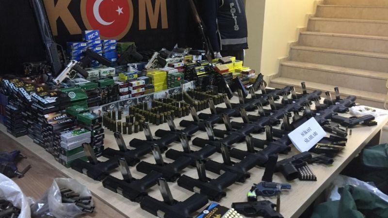 Kocaeli merkezli silah kaçakçılığı operasyonunda 15 şüpheli yakalandı