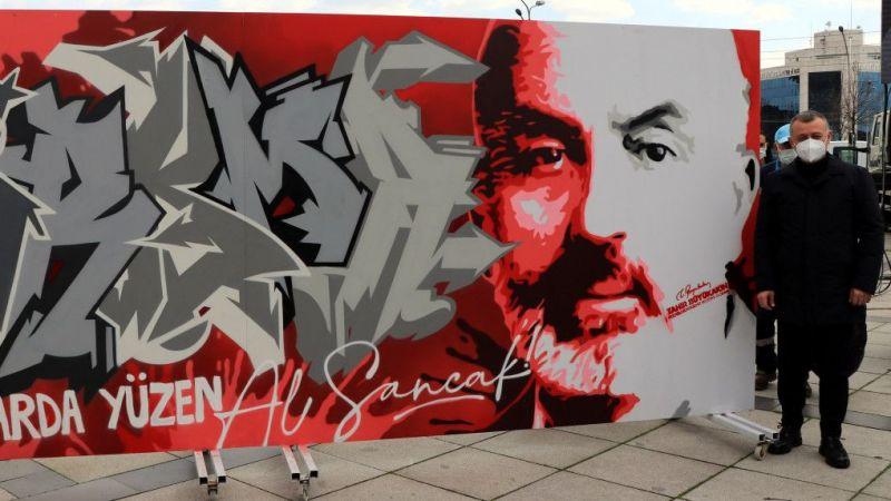 """Kocaeli'de gençler """"İstiklal Marşı ve Mehmet Akif""""i grafitiyle anlatacak"""