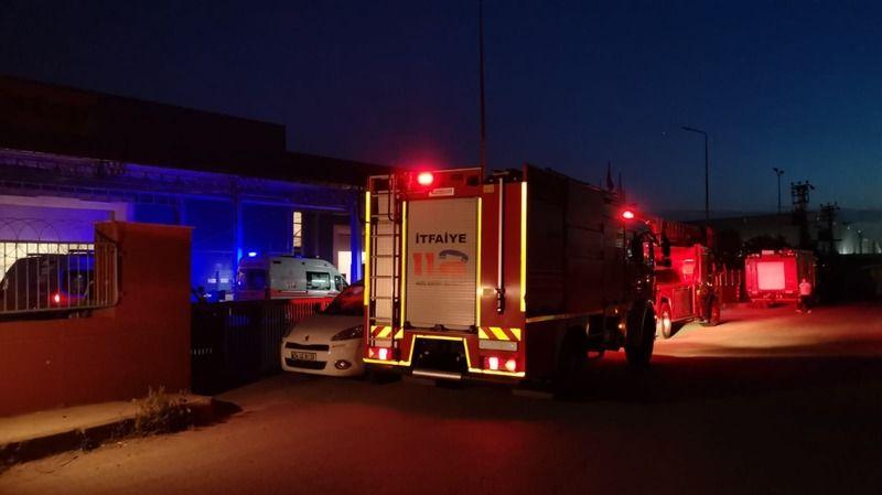 Kocaeli'de fabrikada yangın