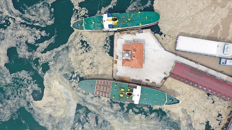 Marmara Denizi'nin dibi de salya ile kaplanmaya başladı