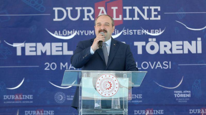 Bakan Varank, Kocaeli'de fabrika temel atma töreninde konuştu